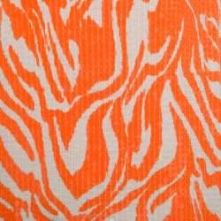 Michael Michael Kors Orange and Beige Zebra Printed Sequined Top M