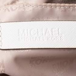 Michael Kors White Leather Satchel