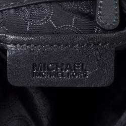 MICHAEL Michael Kors Black Leather and Snakeskin Effect Evie Shoulder Bag
