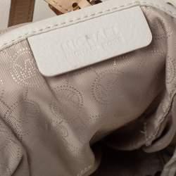 MICHAEL Michael Kors Cream/Beige Leather Top-zip Jet Set Tote