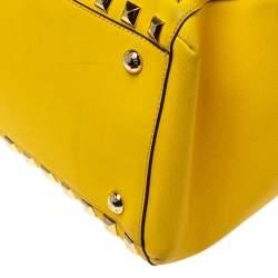 MICHAEL Michael Kors Yellow Leather Studded Grayson Satchel