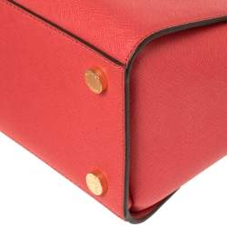 MICHAEL Michael Kors Red Leather Large Selma Satchel