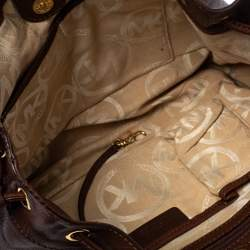 MICHAEL Michael Kors Brown Leather Drawstring Tote