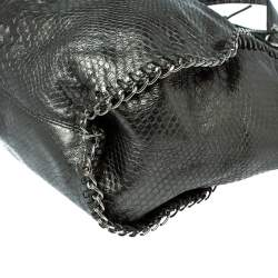 MICHAEL Michael Kors Metallic Python Effect Leather Tassel Chain Detail Satchel