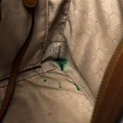MICHAEL Michael Kors Brown Leather Selma Studded Tote
