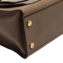 MICHAEL Michael Kors Dark Beige Leather Large Emma Satchel