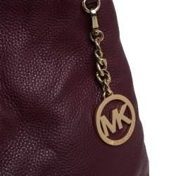 MICHAEL Michael Kors Burgundy Leather Jet Set Chain Shoulder Bag