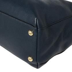 Michael Michael Kors Navy Blue Leather Harper Tote