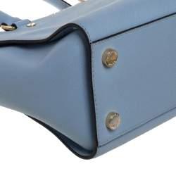 MICHAEL Michael Kors Blue Leather Medium Selma Satchel
