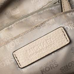 Michael Michael Kors Beige Leather Cindy Dome Satchel