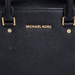 MICHAEL Michael Kors Black Saffiano Leather Large Selma Tote