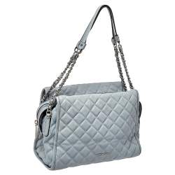 MICHAEL Michael Kors Blue Quilted Leather XL Rachel Satchel