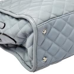 MICHAEL Michael Kors Blue Quilted Leather XL Rachel Satchel