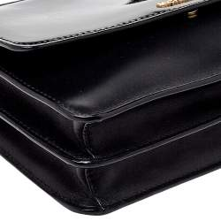 MICHAEL Michael Kors Black Leather and Patent Leather Daniela Crossbody Bag