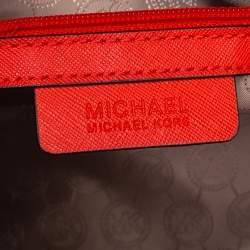 MICHAEL Michael Kors Red Saffiano Leather Medium Selma Tote