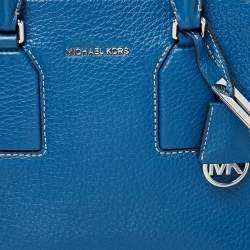 MICHAEL Michael Kors Blue Leather Medium Selby Tote