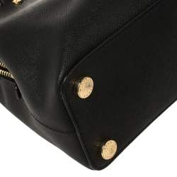 MICHAEL Michael Kors Black Saffiano Leather Small Idina Satchel