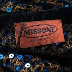 Missoni Sequined Crochet Knit Wool Blend Kaftan S