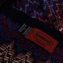 وشاح ميزوني تريكو متعرج متعدد الألوان بشراشيب