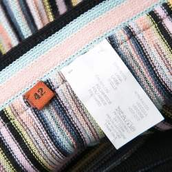 Missoni Multicolor Striped Knit Wrap Skirt M