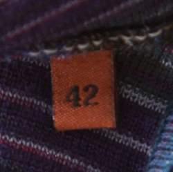 Missoni Purple Marled Wool Blend Tank Top M
