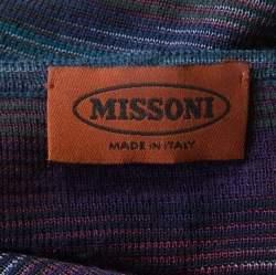 Missoni Purple Marled Wool Blend Button Front Cardigan M