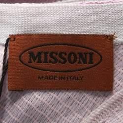 Missoni Pink and Black Knit Sleeveless Dress M