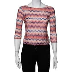 Missoni Pink Patterned Knit Top L