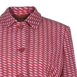 Missoni Red Tweed Long Coat M