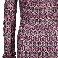 Missoni Multicolor Off-Shoulder Knit Dress M