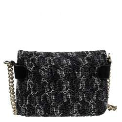 Missoni Metallic Crochet Fabric and Suede Crossbody Bag