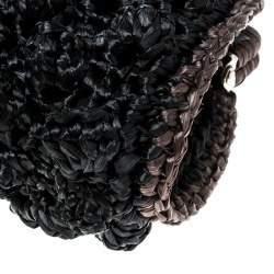 Missoni Black Crochet Straw Clutch