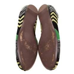 Missoni Multicolor Knit Ballet Flats Size 41