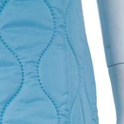 Miu Miu Powder Blue Quilted Mini Skirt  S