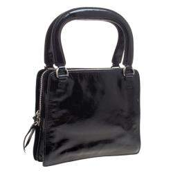 Miu Miu Black Patent Leather Tote