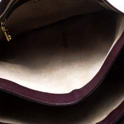 Miu Miu Burgundy Leather Madras Executive Tote