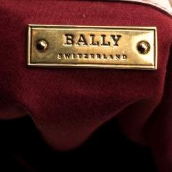 Bally Beige Matelasse Leather Shoulder Bag