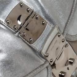 حقيبة هوبو ميو ميو باتشورك كوفير جلد ذهبية / فضية ميتالك