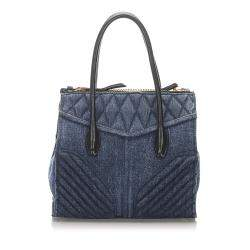 Miu Miu Blue Denim Biker Bag