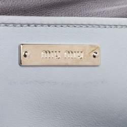 Miu Miu Grey Matelasse Leather Medium Club Shoulder Bag