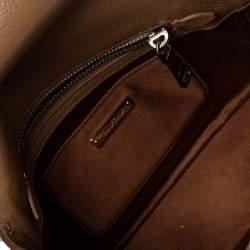 Miu Miu Brown Leather Madras Crossbody Bag