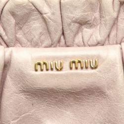 Miu Miu Pink Matelasse Leather Vitello Shine Satchel
