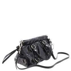 Miu Miu Black Leather Vitello Shine Satchel Bag