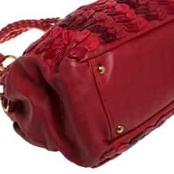 Miu Miu Red Leather Dome Bag