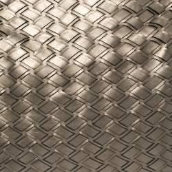 Miu Miu Metallic Grey Woven Leather Hobo