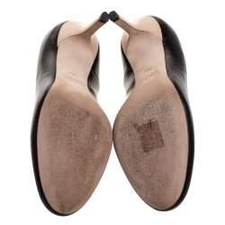 Miu Miu Bicolor Leather Round Toe Pumps Size 36.5