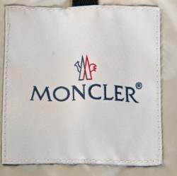 Moncler Cream Embellished Nylon Bomber Jacket M