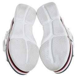 Moncler White/Silver Patent and  Leather Zelda Platform Sandals Size 37