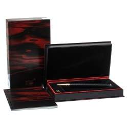 Montblanc Black Guilloché Resin Limited Edition Virginia Woolf Ballpoint Pen