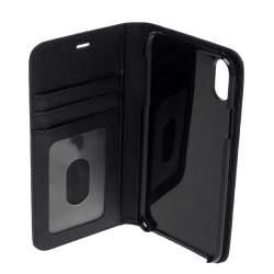 Montblanc Black Leather Sartorial iPhone XS Flip Case
